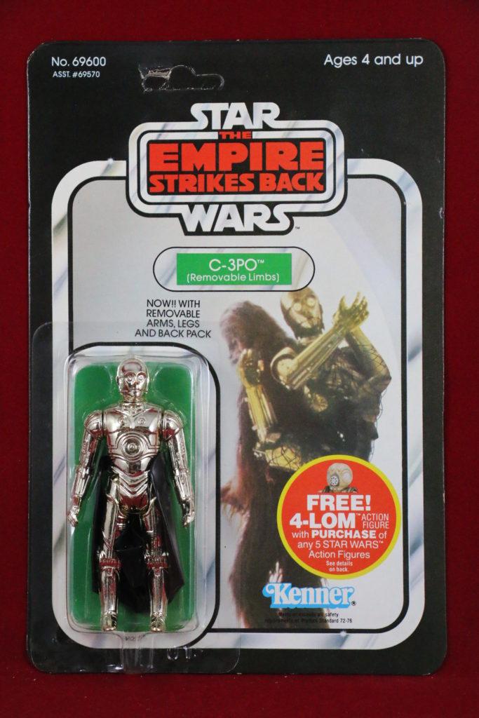 ESB Kenner Star Wars C-3PO Removable Limbs 47 Back Front