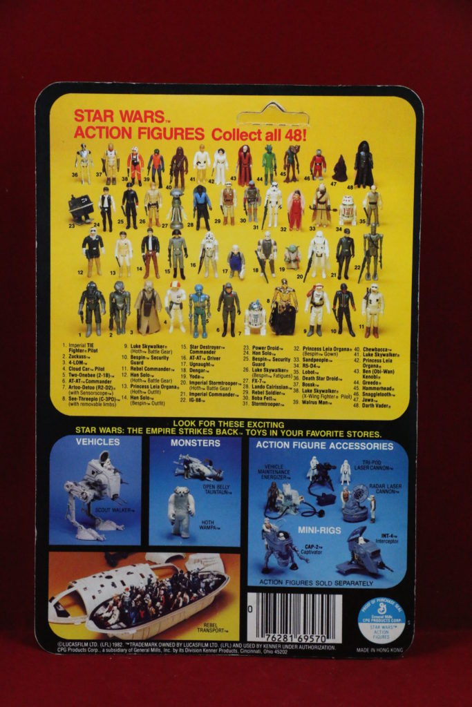 ESB Kenner Star Wars Cloud Car Pilot 48 Back A Back