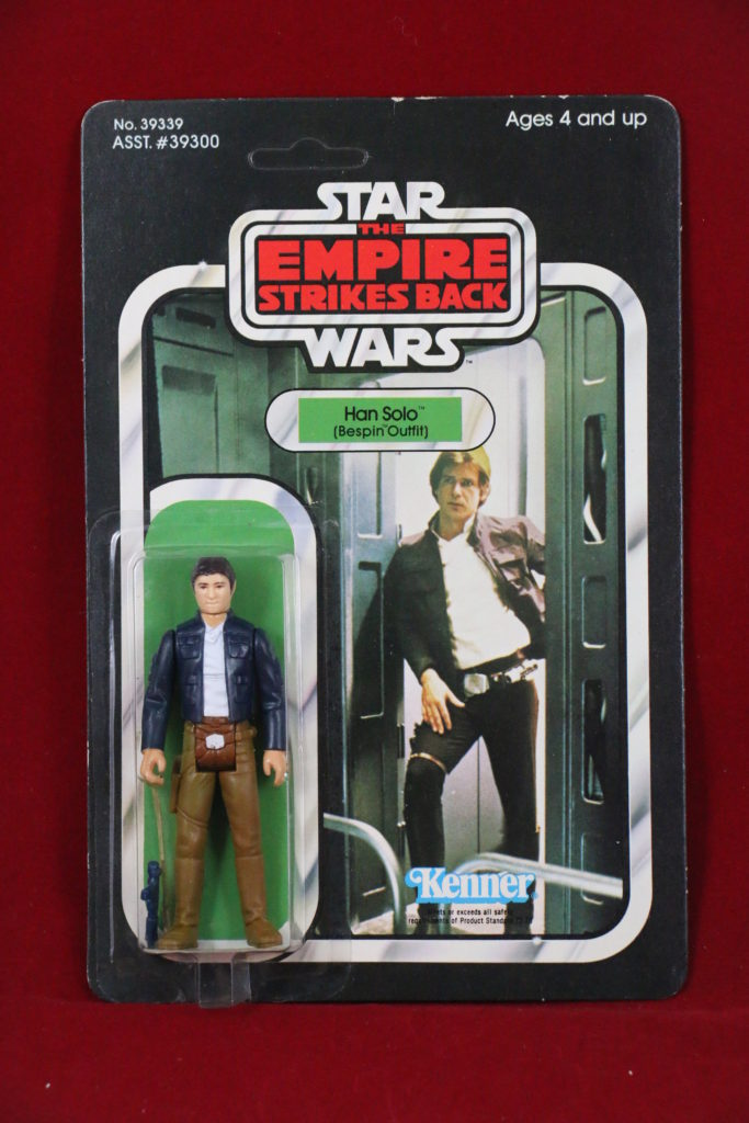 ESB Kenner Star Wars Han Solo Bespin 41 Back D Front