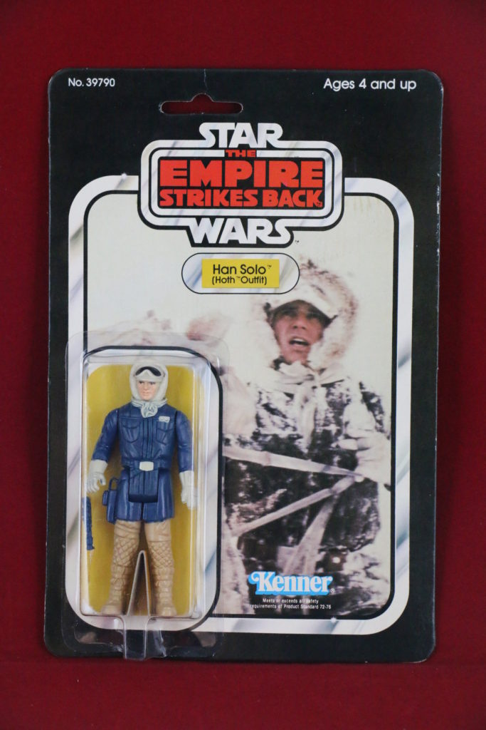 ESB Kenner Star Wars Han Solo Hoth 31 Back A Front