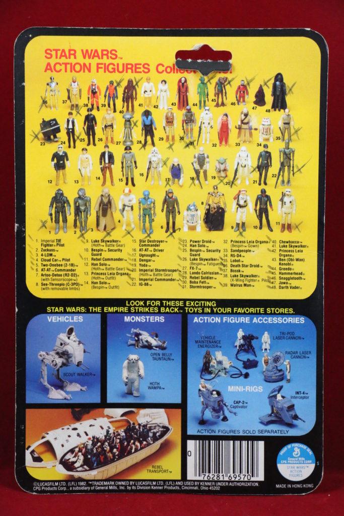 ESB Kenner Star Wars Luke Skywalker Hoth 48 Back A Back