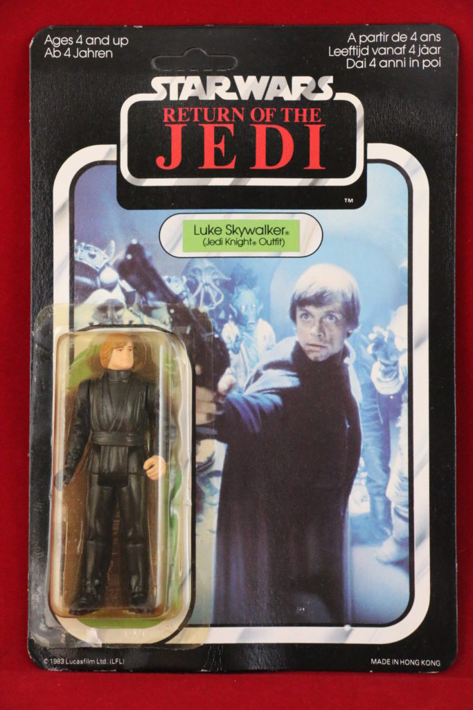 Luke Skywalker Jedi Green Saber 65 back Palitoy Front