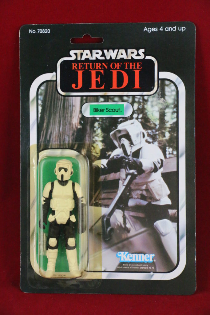ROTJ Kenner Star Wars Biker Scout 65 Back B Front