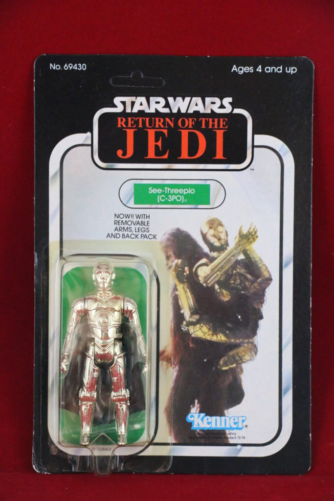 ROTJ Kenner Star Wars C-3PO Removable Limbs 65 Back A Front