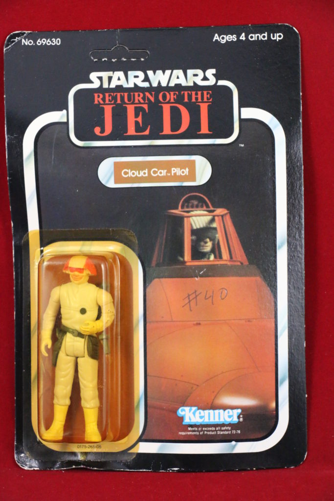 ROTJ Kenner Star Wars Cloud Car Pilot 77 Back A Front