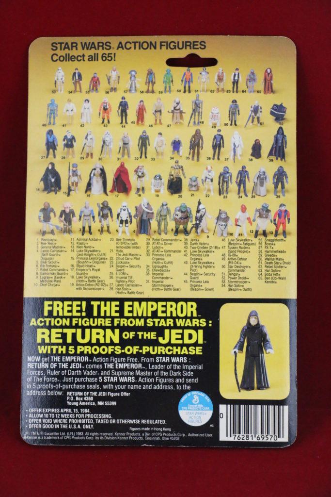 ROTJ Kenner Star Wars Gamorrean Guard 65 Back C Back