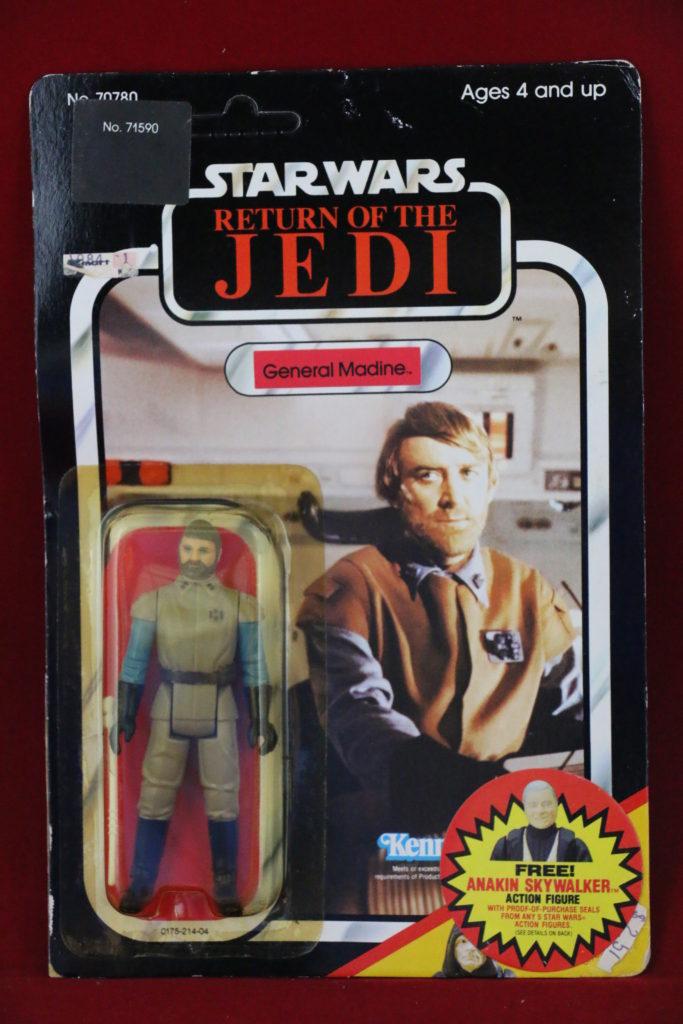 ROTJ Kenner Star Wars General Madine 65 Back D Front