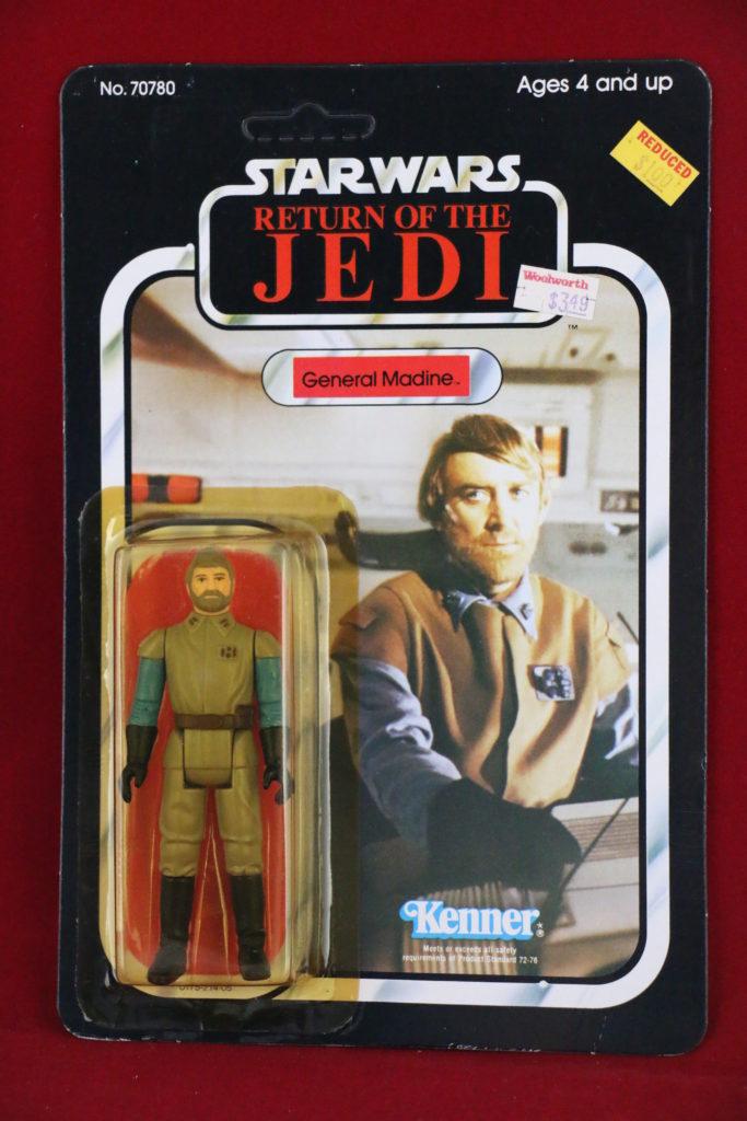 ROTJ Kenner Star Wars General Madine 77 Back A Front