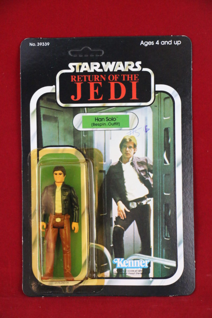 ROTJ Kenner Star Wars Han Solo Bespin 77 Back A Front