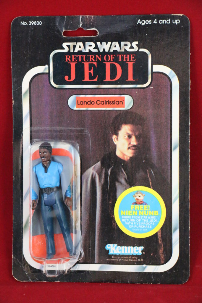 ROTJ Kenner Star Wars Lando with Teeth 48 Back A Front