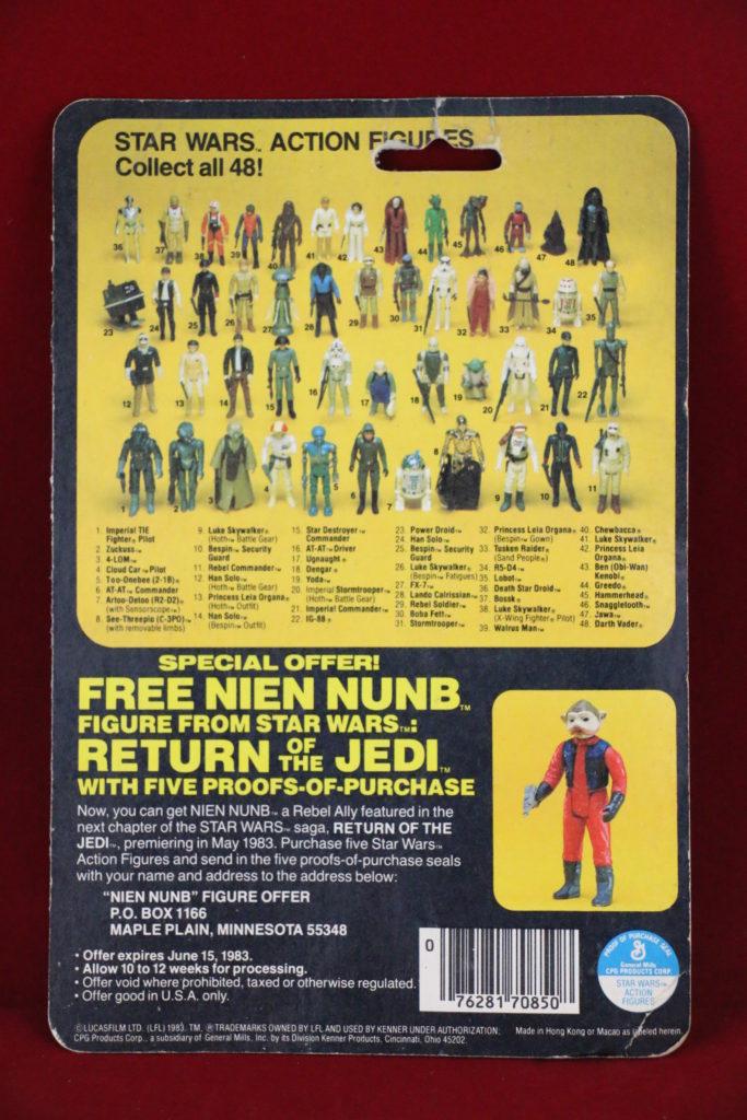 ROTJ Kenner Star Wars Lando with Teeth 48 Back A Back