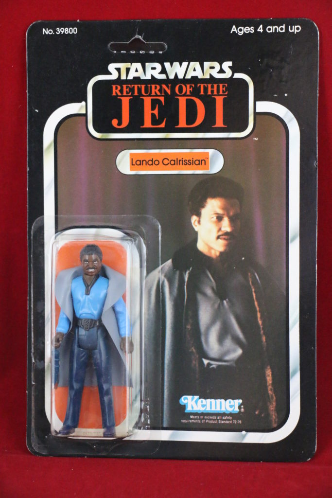 ROTJ Kenner Star Wars Lando with teeth 77 Back A Front