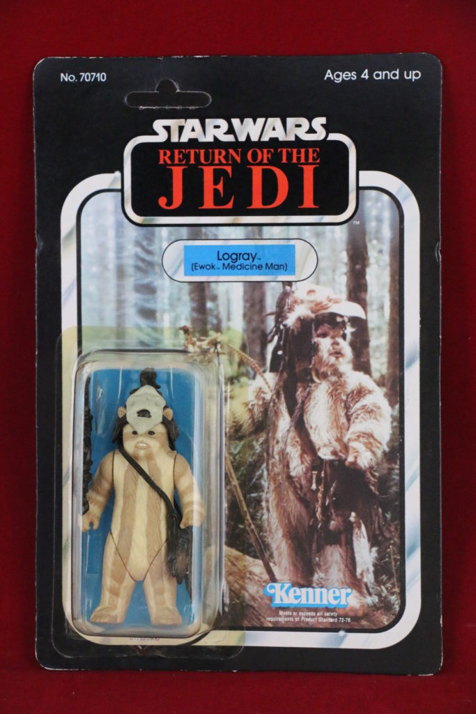 ROTJ Kenner Star Wars Logray 65 Back A Front