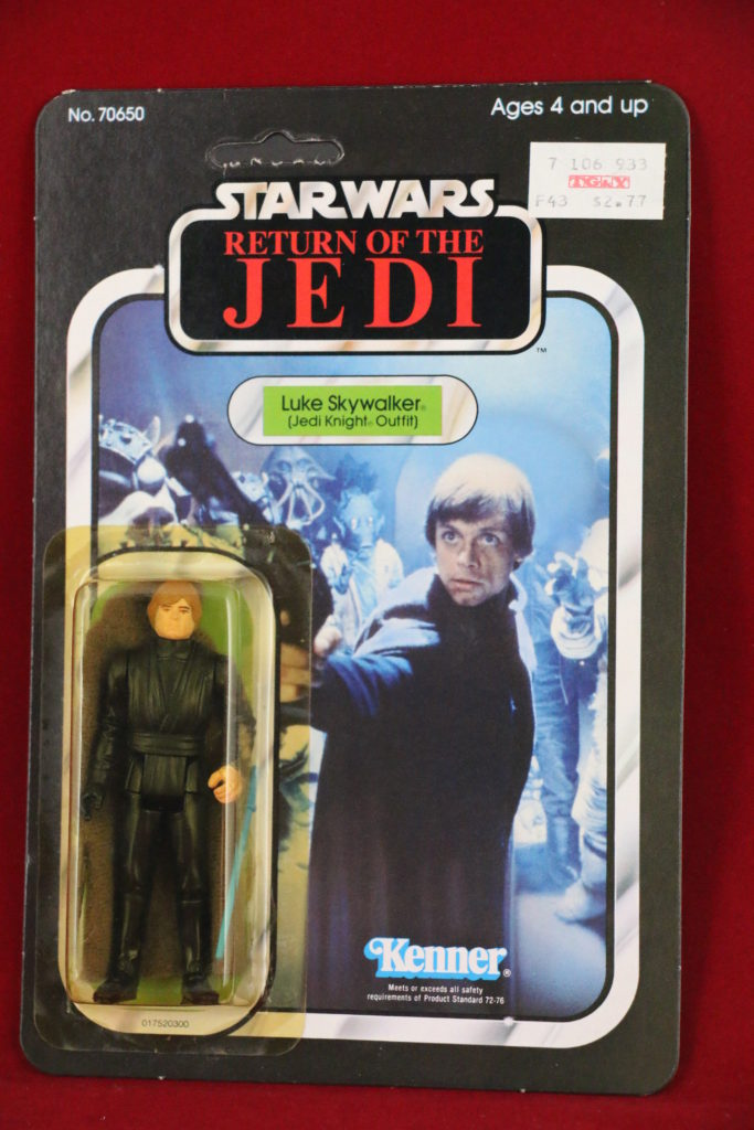 ROTJ Kenner Star Wars Luke Jedi Blue Saber 65 Back A Front