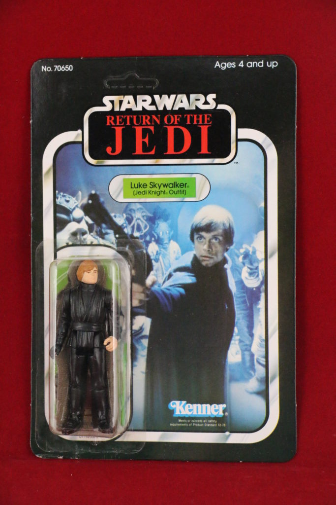 ROTJ Kenner Star Wars Luke Jedi Green Saber 65 Back B Front