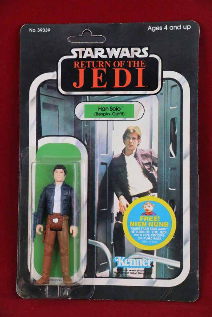ROTJ Kenner Star Wars Princess Han Solo Bespin 48 Back A Front