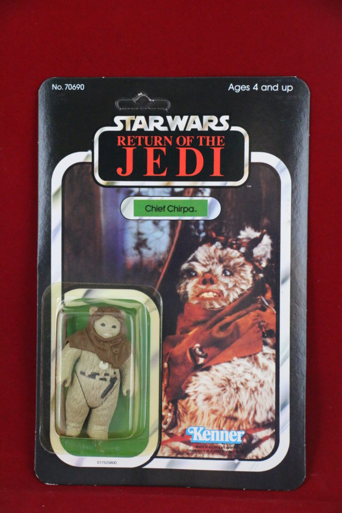 ROTJ Kenner Star Wars Star Chief Chirpa 65 Back B Front