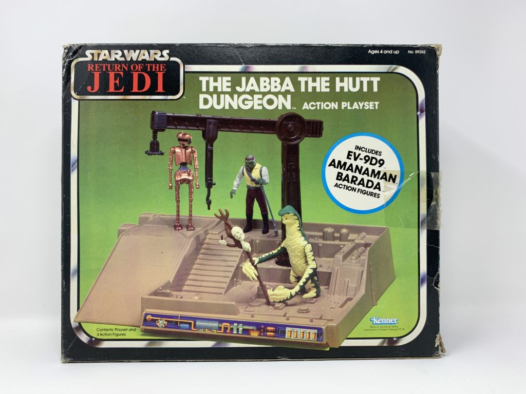 ROTJ Jabba The Hutt Dungeon Playset POTF Figure Variation Front