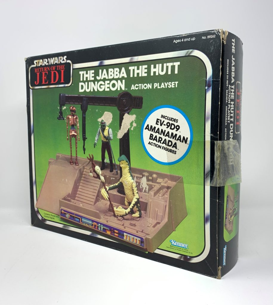ROTJ Jabba The Hutt Dungeon Playset POTF Figure Variation Back