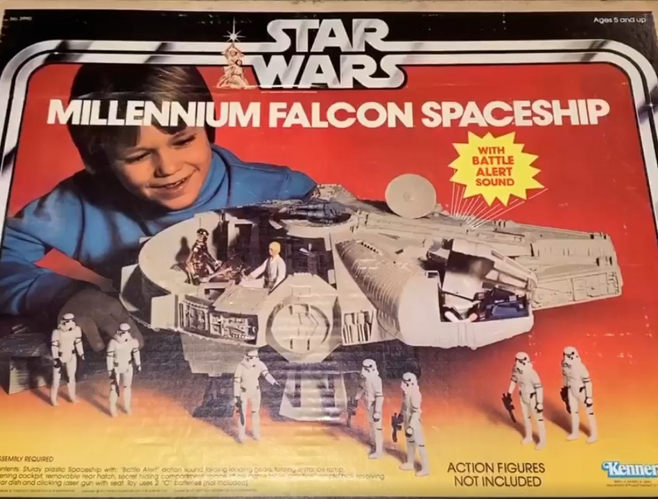 Taking inspiration from Kenner's original Millennium Falcon toy, I decided to build my two sons the ultimate Halloween costume accessory... Their own Millennium Falcon to drive!