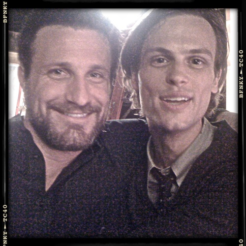 Andrew and our Dr. Reid, Matthew Gray Gubler