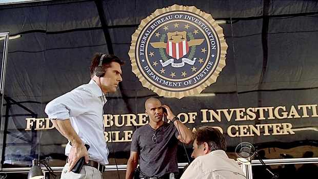 Intense scene with Hotch, Morgan, and Rossi from episode 4x03 'Minimal Loss', written by Andrew Wilder.