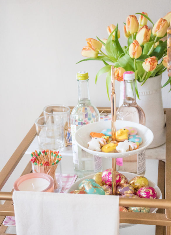 lo chandler easter bar cart