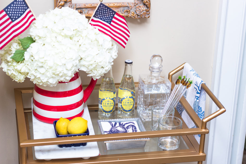 july fourth bar cart