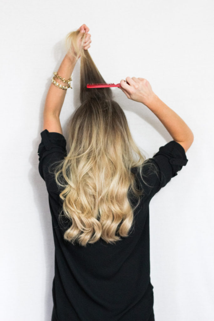 holiday curls tutorial