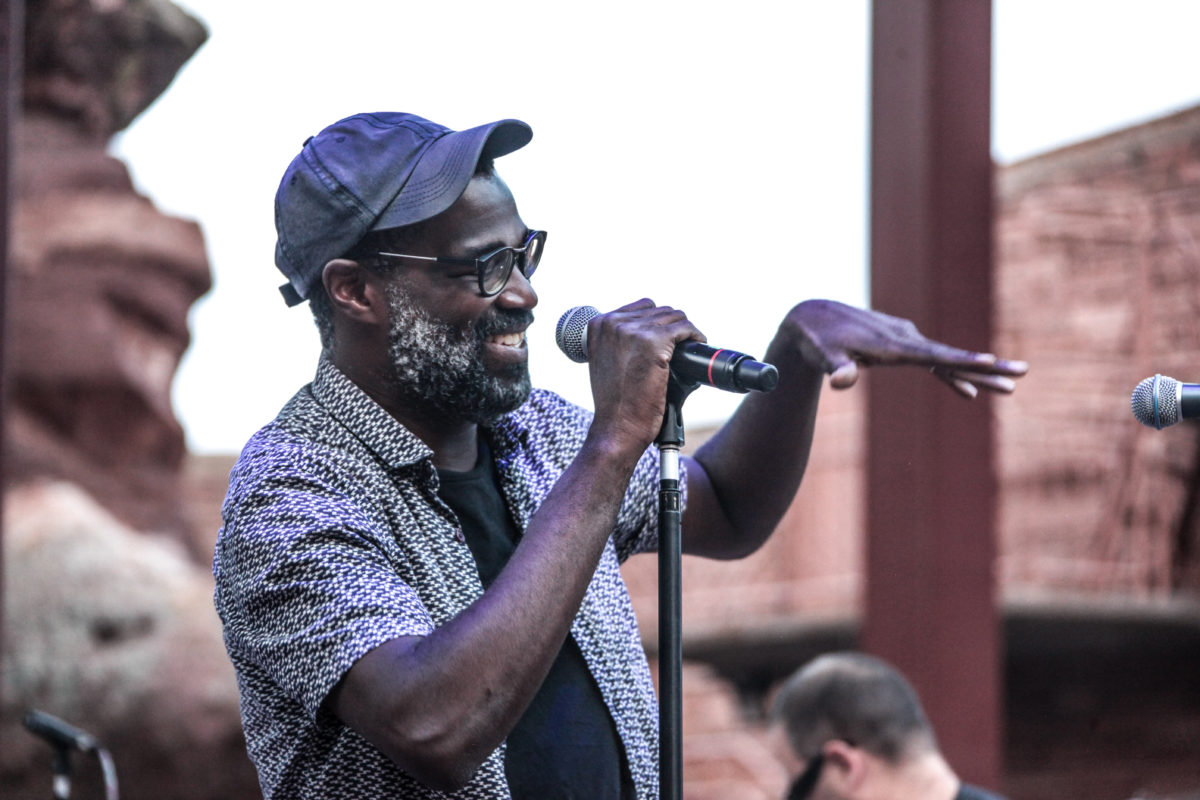 A Smiling Tunde Adebimpe