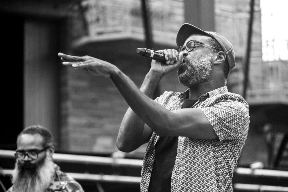 Tunde Adebimpe of TV On The Radio On Lead Vocals