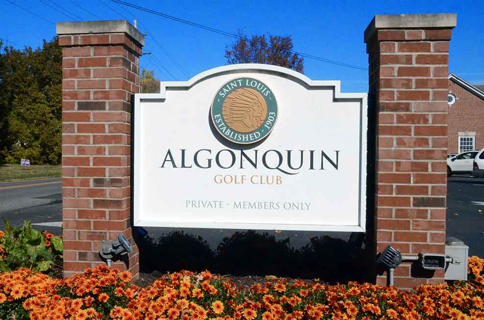 Algonquin-Golf-Club,-St-Louis,-MO-Sign