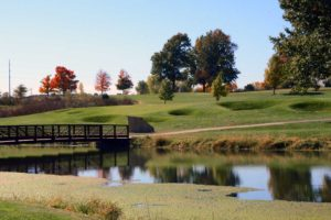 Eagles'-Landing-Golf-Course,-Belton,-MO-Lake