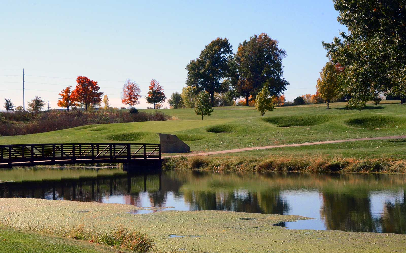 Eagles'-Landing-Golf-Course,-Belton,-MO-Lake