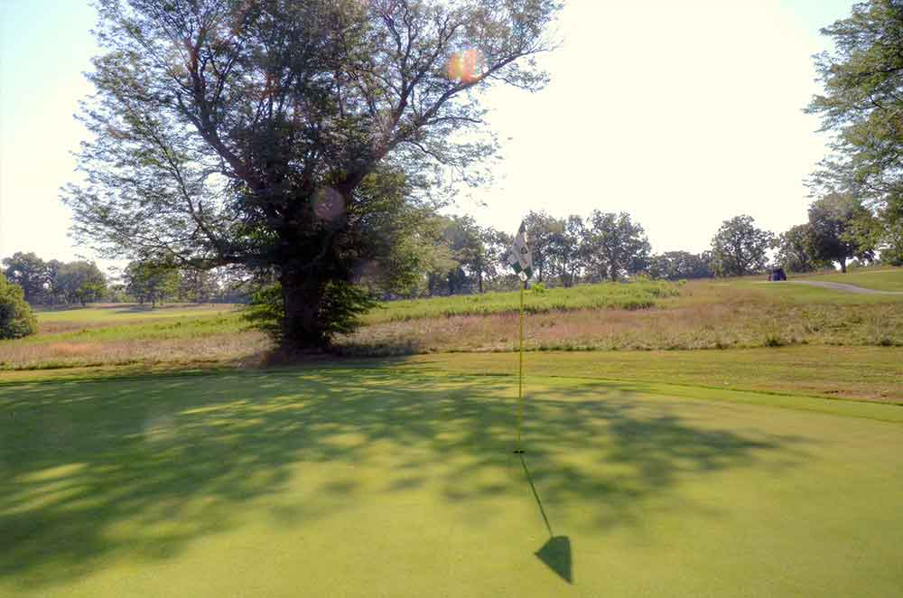 Minor-Park-Golf-Course,-Kansas-City,-MO-FlagStick