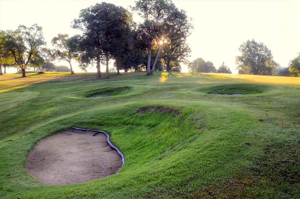 Swope-Memorial-Golf-Course,-Kansas-City,-MO-Sunburst