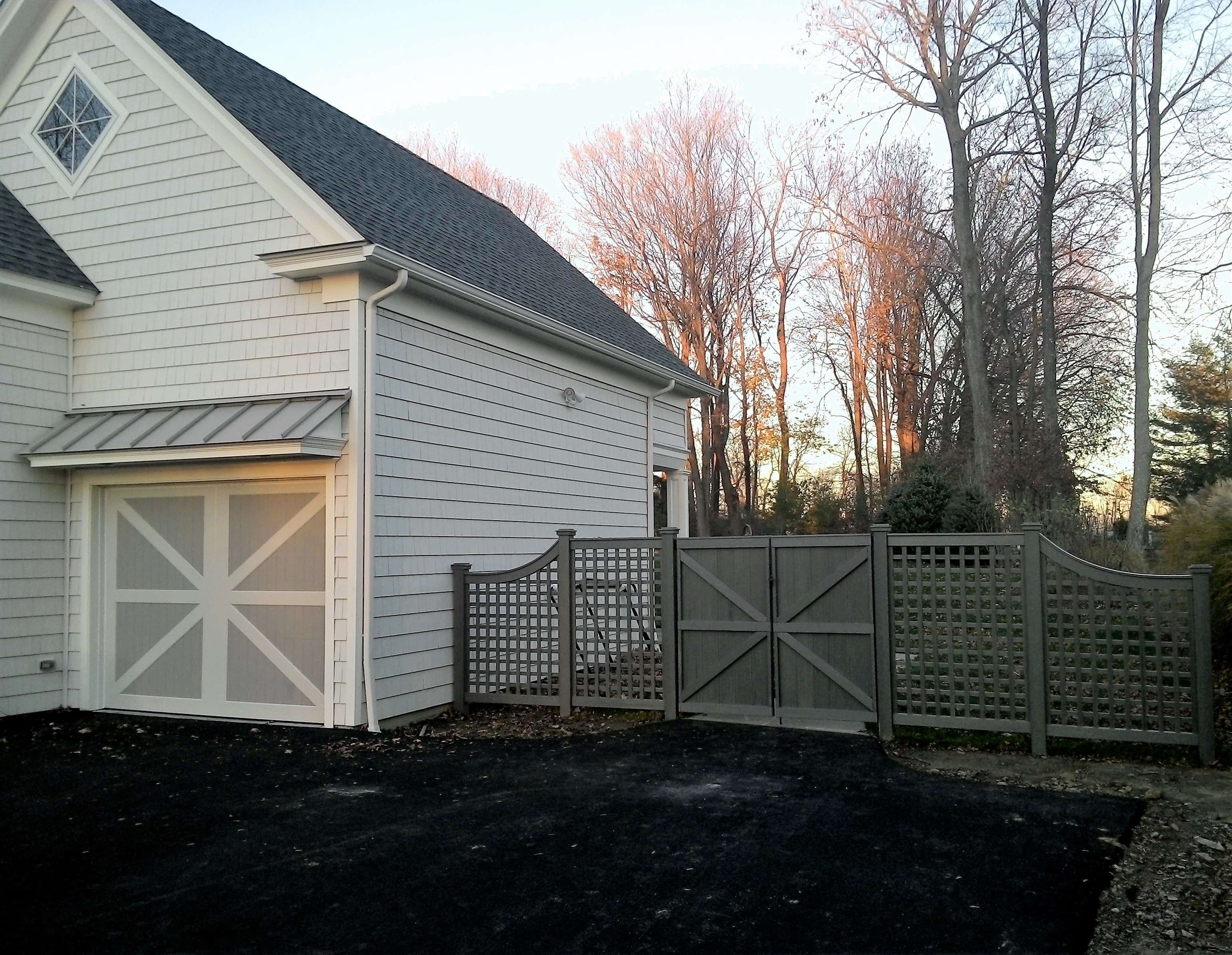 Green Trellis and Gate