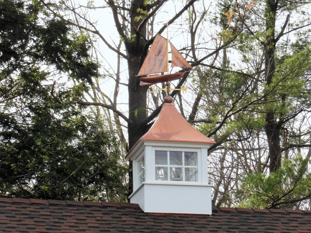 Sail Boat Weather Vane and Cupola