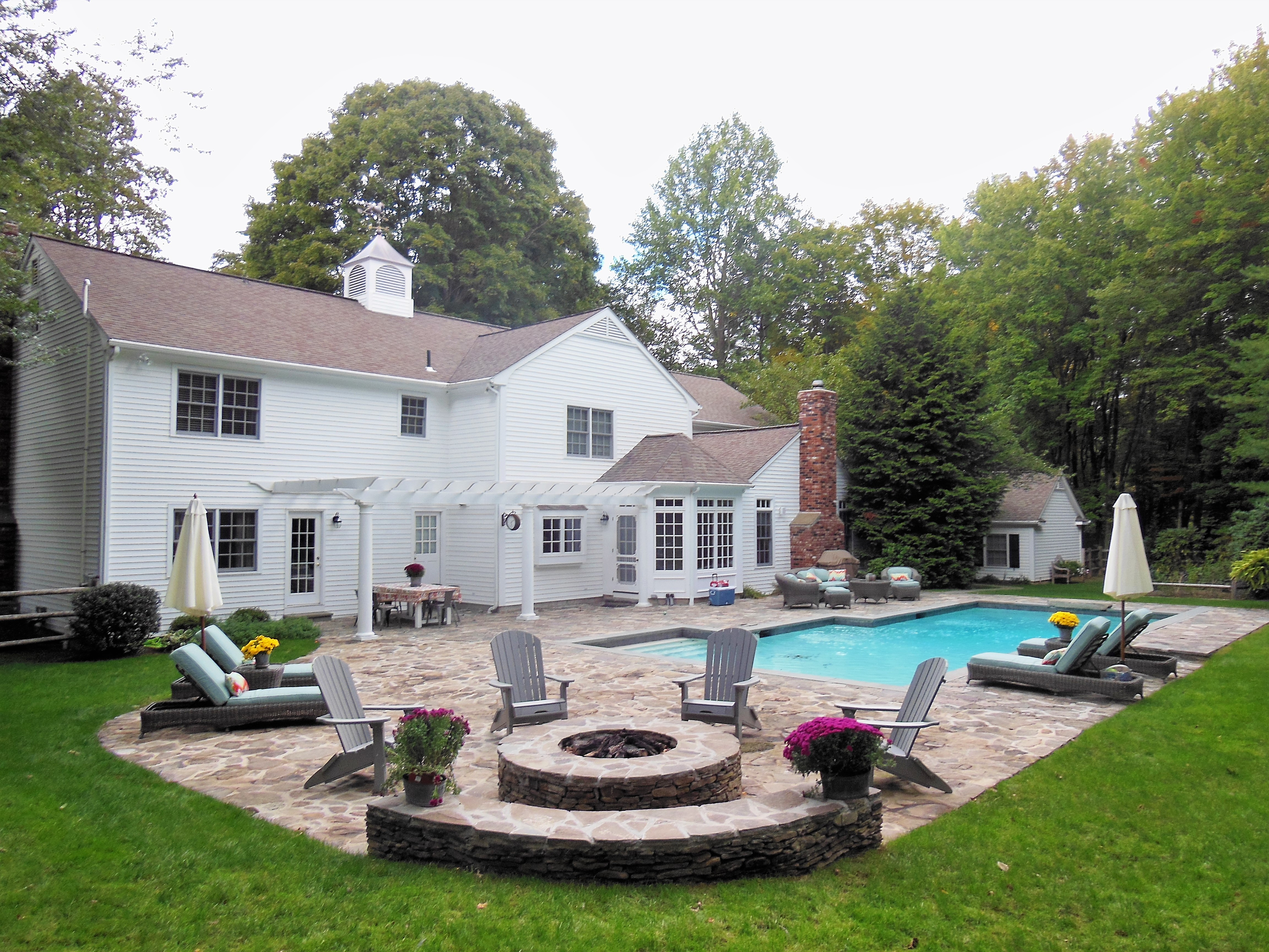 Outdoor Patio, Furniture and Pool
