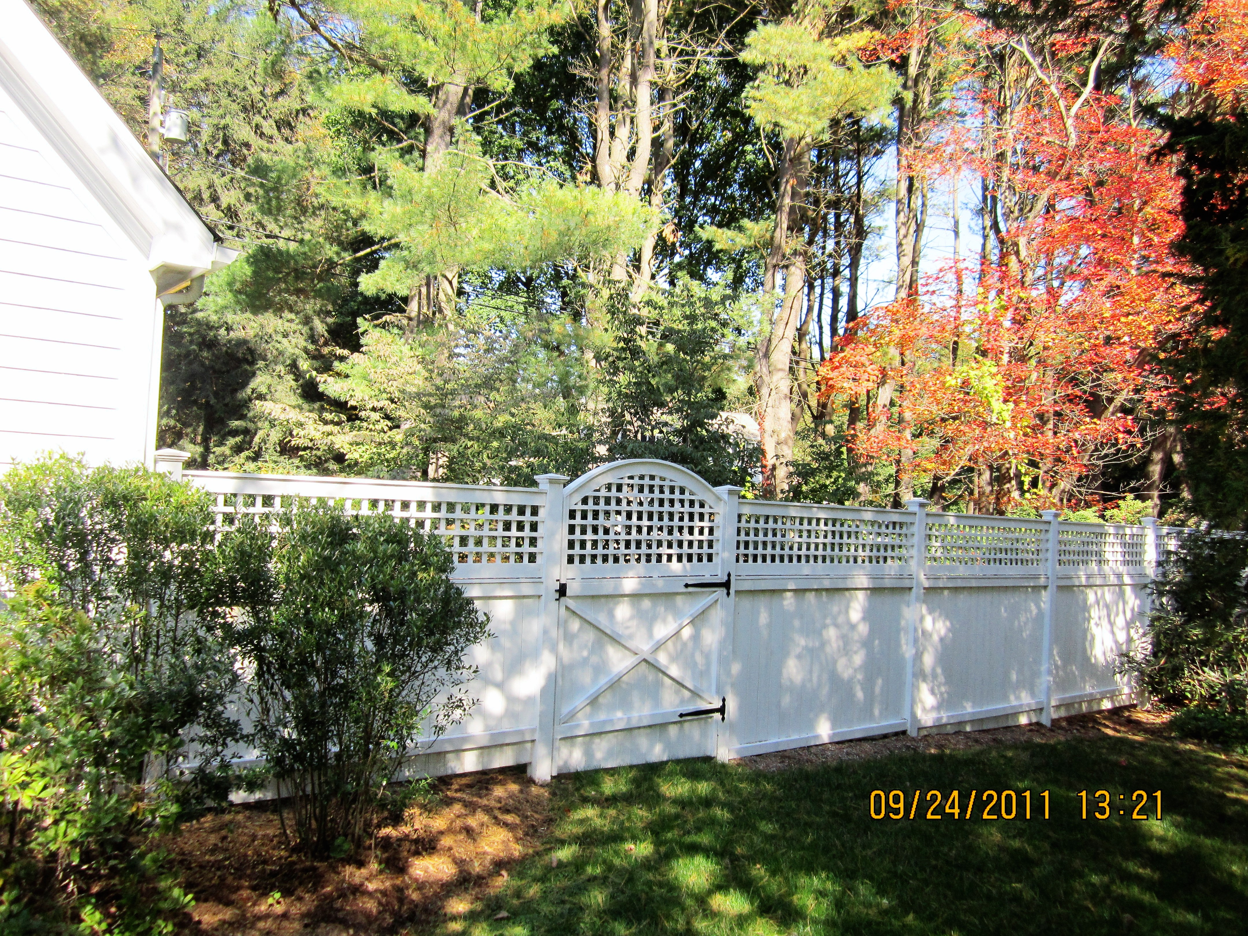 White Privacy Fencing