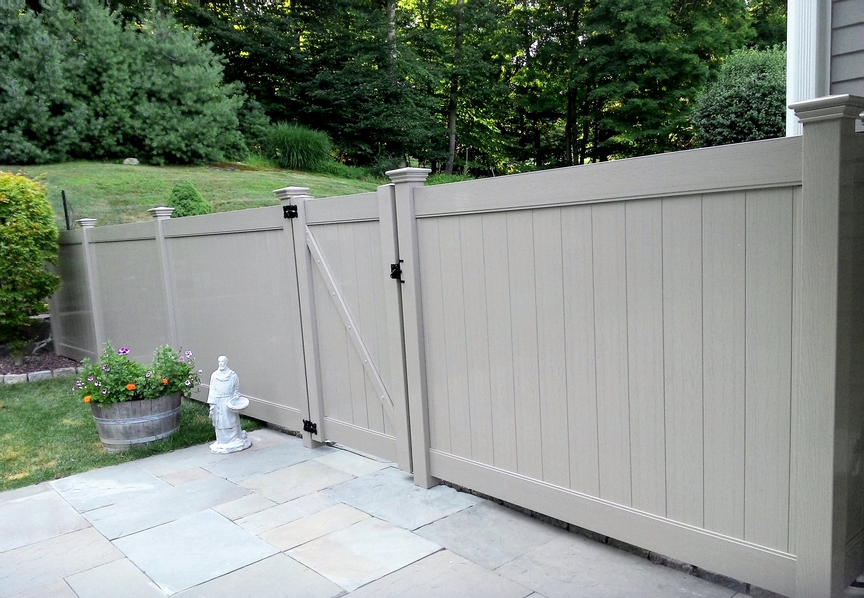 Gray Vinyl Privacy Fence
