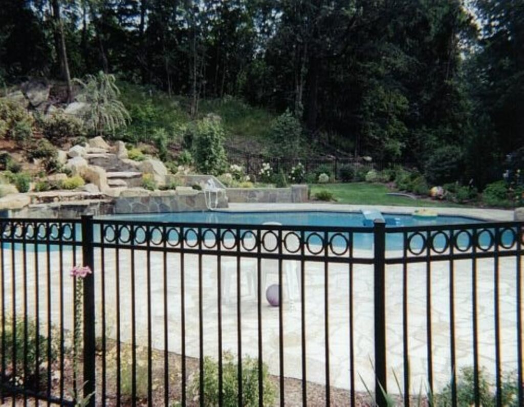 Custom Legacy Black Aluminum Fence