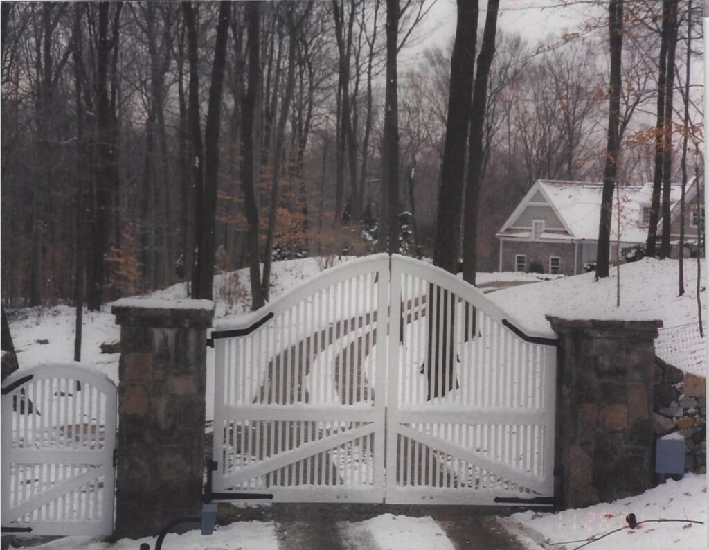 Single and Double White Arched Entry Gates