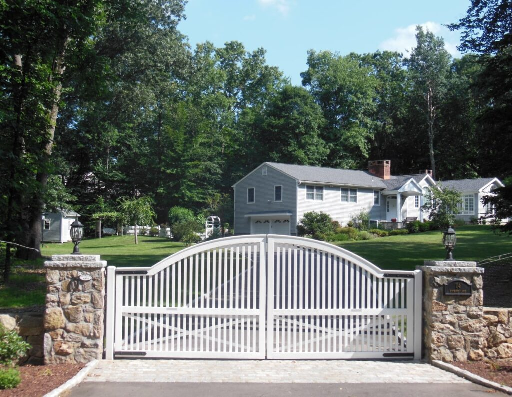 White Entry Gate Arched