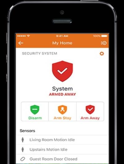 Alarm.com home page