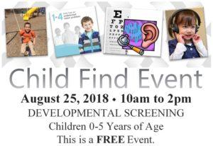 Child Find Card 2018