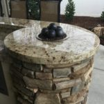 outdoor kitchen granet top with fire - marantha landscape bakersfield