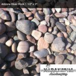 "Arizona River Rock 1 1/2"" x 3"" - Maranatha Landscape Bakersfield"