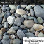 """River Rock 1"""" x 1 1/2"""" - Marantha Landscape Bakersfield"""