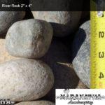 "River Rock 2"" x 4"" - Maranatha Landscape Bakersfield"